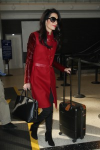 LOS ANGELES, CA - JANUARY 25: Amal Clooney seen at LAX on January 25, 2015 in Los Angeles, California. (Photo by GVK/Bauer-Griffin/GC Images)